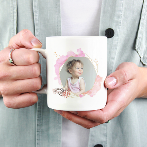 Mommy Hearts Photo Mug