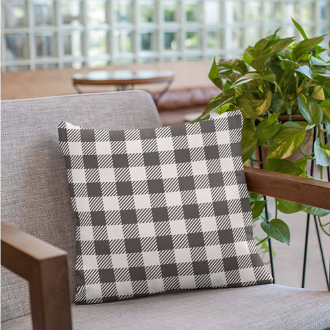 buffalo plaid black and white pillows and pillowcases buffalo check