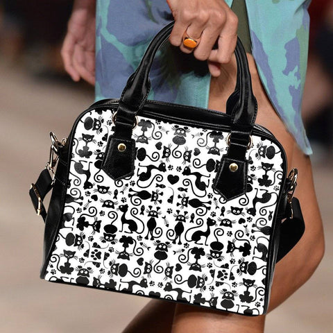 Image of Cats White Handbag