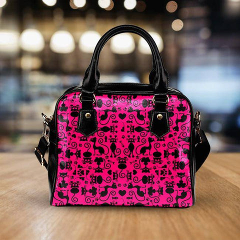Image of Cats Pink Handbag