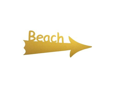 beach sign arrow gold