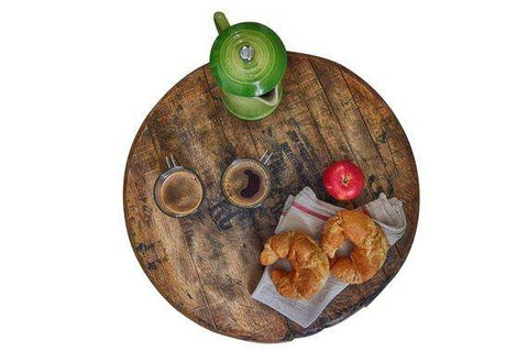 Image of reclaimed wood lazy susan