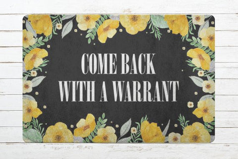 Funny Floral Door Welcome Mat
