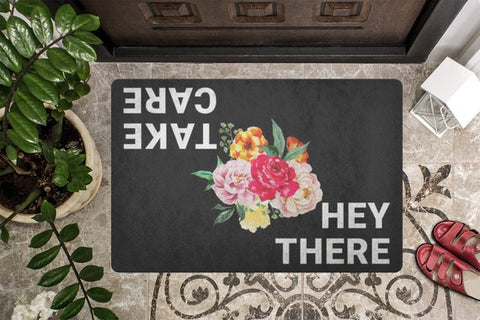 Coming and Going Welcome Mat Message