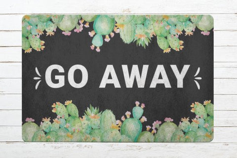 Go Away Funny Welcome Not Welcome Mat