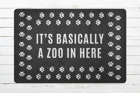 Pet Owners Funny Welcome Mat