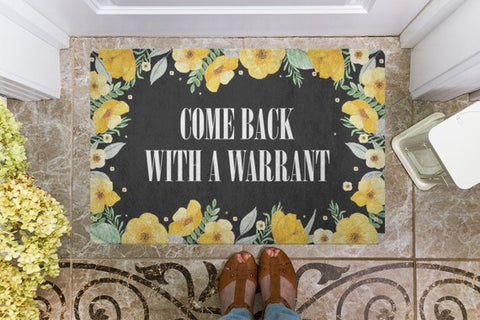 Image of Funny Floral Door Welcome Mat
