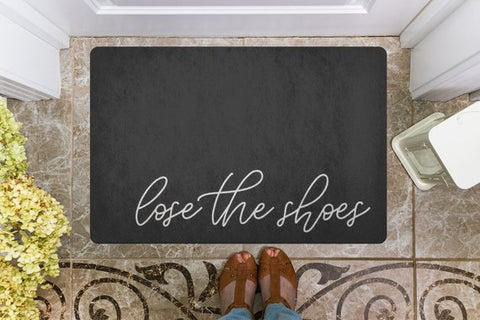 Lose the Shoes Welcome Mat