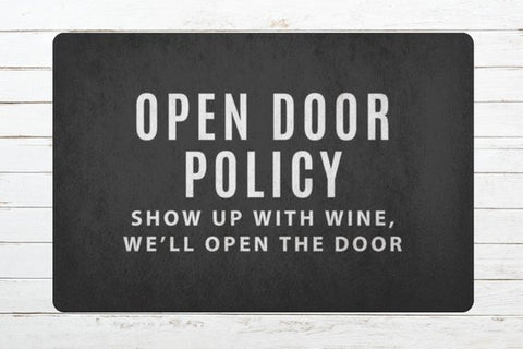Image of Open the Door Wine Welcome Mat