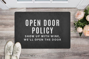 Open the Door Wine Welcome Mat