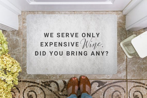 Did You Bring Wine Welcome Mat