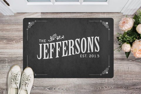 Image of Personalized Door Mat Welcome Mat