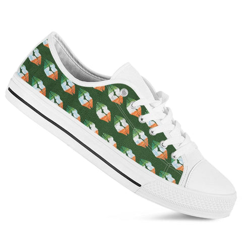 Irish kisses irish flag colors low top shoes