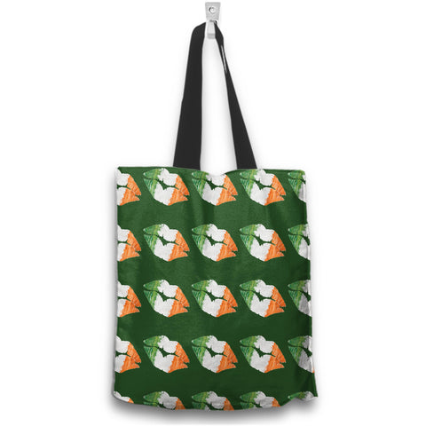 Image of Irish Kisses Irish Flag Colors Green Tote Bag