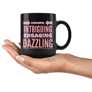 Aquarius Astrology Quote Black Mug