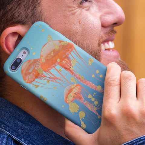 jellyfish art phone case