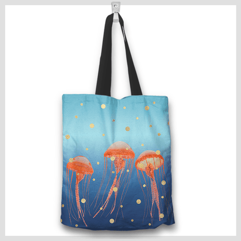 Image of jellyfish-art-totebag