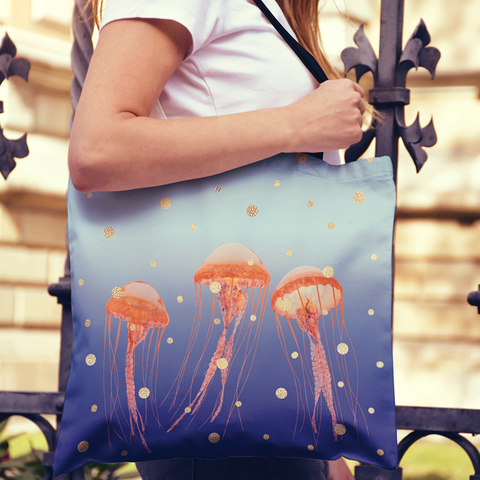 Image of jellyfish totebag