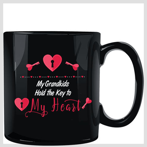 Image of My Grandkids Hold the Key to My Heart Mug