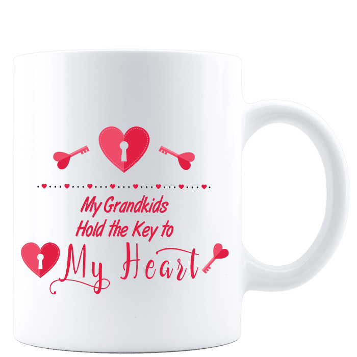 My Grandkids Hold the Key to My Heart White Mug
