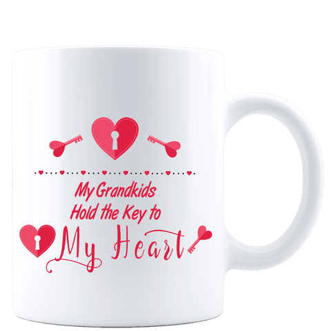 Image of My Grandkids Hold the Key to My Heart White Mug