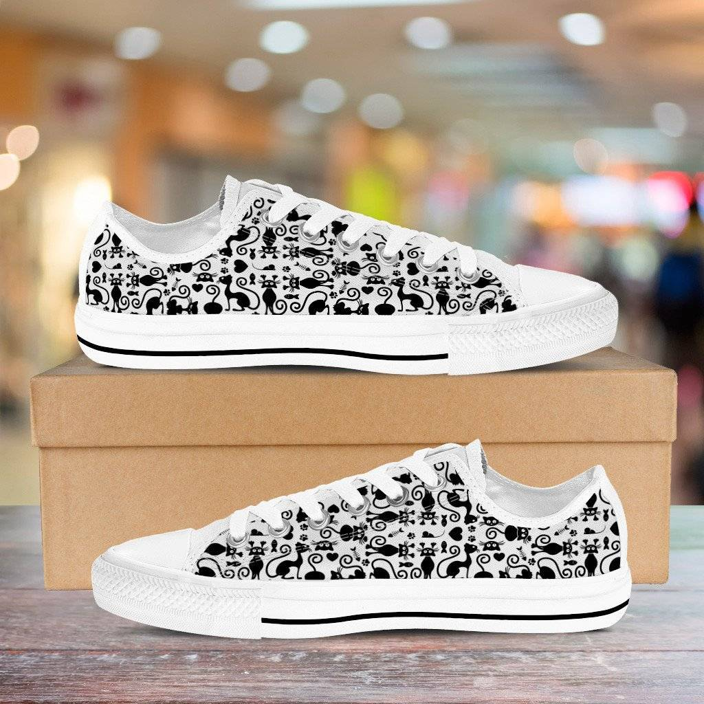 Cats White Low Top Shoes