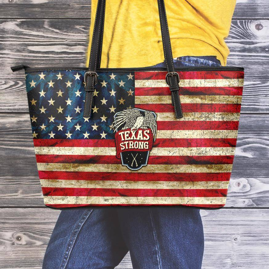 Texas Strong Large Vegan Leather Tote