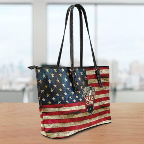 Image of Texas Strong Large Vegan Leather Tote