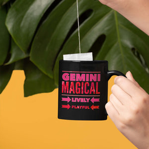 gemini astrology horoscope traits black mug