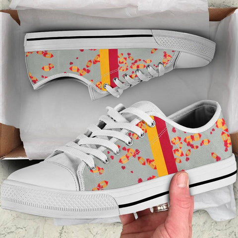 Iowa State Cyclones Sneakers for Women Low Top White Soles