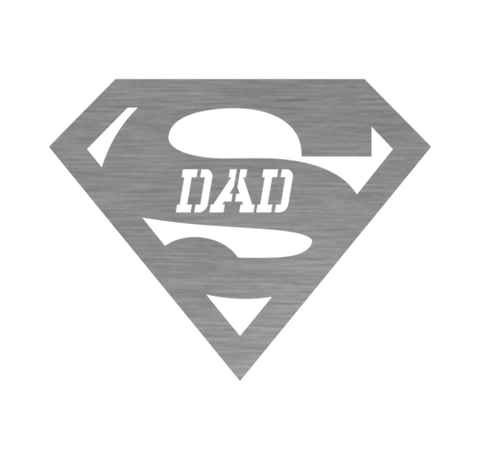 Image of Super Dad Steel Wall Sign