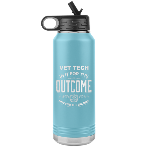 vet tech appreciation etched stainless steel powder blue water bottle