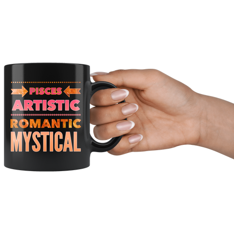 pisces astrology traits horoscope custom black mug
