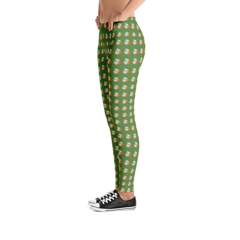 Image of Irish Kisses Leggings Irish Flag Colors