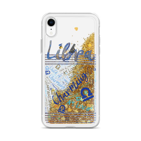 Libra Traits Liquid Glitter Phone Case