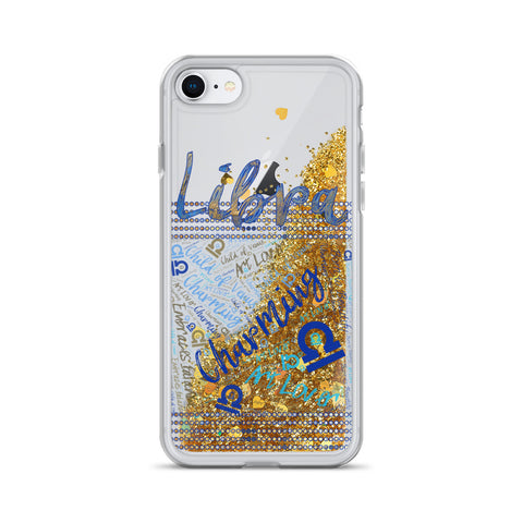 Image of Libra Traits Liquid Glitter Phone Case