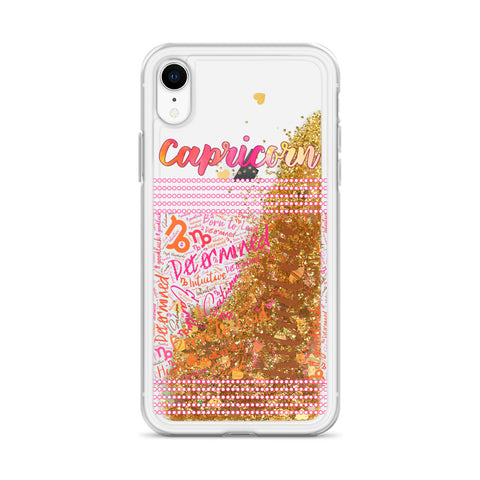 Image of Capricorn Traits Liquid Glitter Phone Case