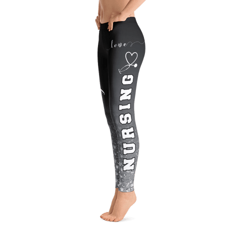 Image of i love nursing black leggings