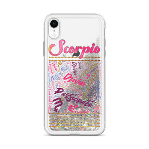 Scorpio iPhone Liquid Glitter Phone Case