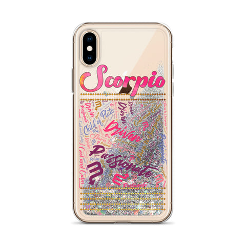 Image of Scorpio iPhone Liquid Glitter Phone Case