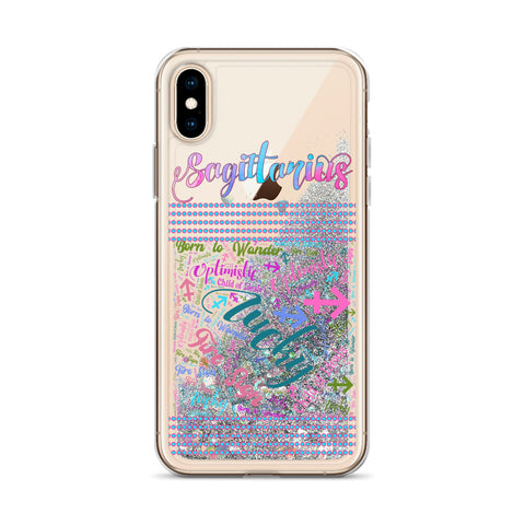 Sagittarius Liquid Glitter Phone Case