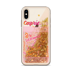 Capricorn Traits Liquid Glitter Phone Case