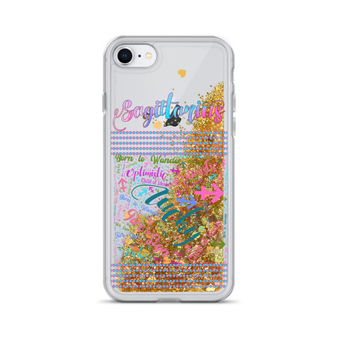 Image of Sagittarius Liquid Glitter Phone Case