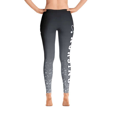 Image of nurse leggings black