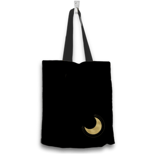 Love My Grandkids to the Moon and Back Gold and Black Tote Bag Two Sides Two Designs