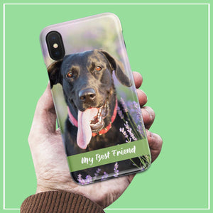 my best friend personalized photo iphone case