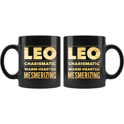 Leo Astrology Quote Black Mug