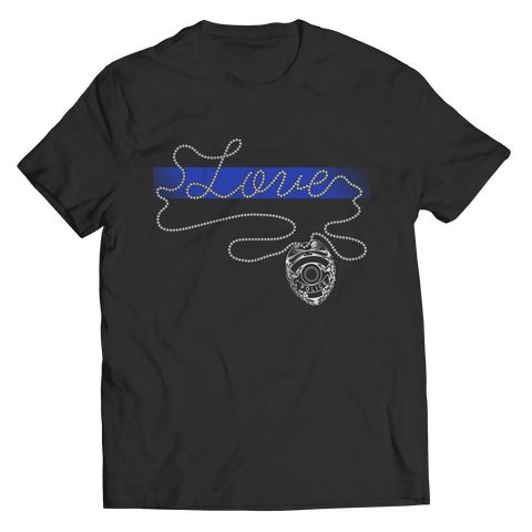 Image of Thin Blue Line Love T-Shirt