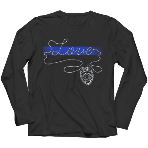 Image of Thin Blue Line Love Longsleeve Shirt