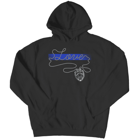 Image of Thin Blue Line Love Hoodie